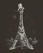 Eiffel Tower Print by Aged Pixel