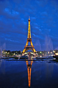 Most Photo Posters - Eiffel Tower  Poster by Allen Beatty