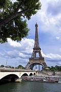 BERNARD JAUBERT - Eiffel tower and river Seine. Paris. France