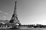 Paris Metal Prints - Eiffel Tower and the Seine Metal Print by Galexa Ch