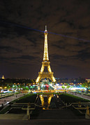 La Tour Eiffel Framed Prints - Eiffel Tower at Night 2013 Framed Print by Heidi Hermes