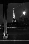 Bir Framed Prints - Eiffel Tower at Night Framed Print by Brian Sotak