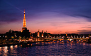 Eifel-tower Posters - Eiffel Tower at Sunset Poster by Phill Petrovic