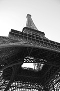 French Prints - Eiffel Tower b/w Print by Jennifer Lyon