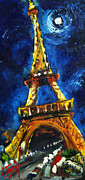 Paris Paintings - Eiffel Tower by Carole Foret