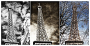 The Eiffel Tower Prints - Eiffel Tower Colors Print by John Rizzuto