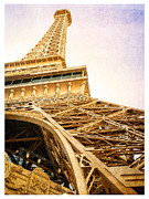 Paris Metal Prints - Eiffel Tower Metal Print by Edward Fielding