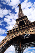 Travel Destinations Tapestries Textiles - Eiffel tower by Elena Elisseeva