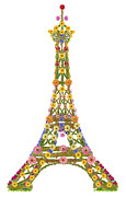 Aleksandr Volkov - Eiffel tower from flowers