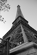 Eiffel Tower Prints - Eiffel Tower in Black and White Print by Jennifer Lyon