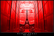Dany  Lison - Eiffel Tower in red