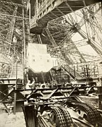 Eiffel Tower Lift Machinery, 1889 Print by Science Photo Library
