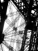 Bauwerk Prints - Eiffel Tower Lift Print by Rita Haeussler