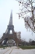 Eiffel Tower - Paris France - 011314 Print by DC Photographer