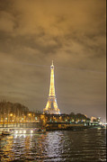 Antique Photo Acrylic Prints - Eiffel Tower - Paris France - 011342 Acrylic Print by DC Photographer