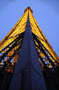 Night Metal Prints - Eiffel Tower - Paris France - 01137 Metal Print by DC Photographer