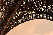 Man Made Structure Digital Art Prints - Eiffel Tower Paris France Arc Print by Patricia Awapara