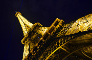 Man Made Structure Digital Art Prints - Eiffel Tower Paris France Side Print by Patricia Awapara
