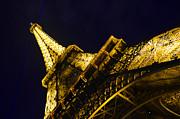 Eiffel Tower Paris France Side Print by Patricia Awapara