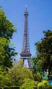 Eiffel Tower Mixed Media Metal Prints - Eiffel Tower - Paris Metal Print by Michael Stephens