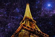 Paris Digital Art Framed Prints - Eiffel Tower Photographic Art Framed Print by David Dehner