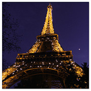 La Tour Eiffel Framed Prints - Eiffel Tower Sparkles Framed Print by Heidi Hermes