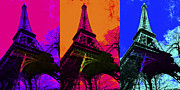 Paris Digital Art - Eiffel Tower Three 20130116 by Wingsdomain Art and Photography