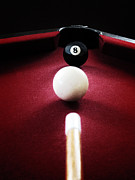 Pocket Billiards Prints - Eight Ball Print by Birgit Tyrrell