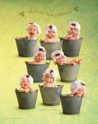 Christmas Art Posters - Eight Maids-a-Milking Poster by Anne Geddes