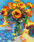 Thomas Bertram POOLE - Eight Yellow Roses oil...