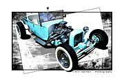 T Bucket Rat Rod Posters - Eightball Suicide Bucket Poster by Chad Poore