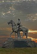Photography Statue Photography Framed Prints - Eighth Pennsyvania Cav Framed Print by Skip Willits