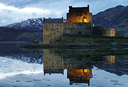 The Clan Art - Eilean Donan Castle at dusk by Phil Banks