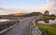 Castle On Mountain Prints - Eilean Donan Castle Entry Print by Marcia Colelli