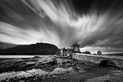Footbridge Posters - Eilean Donan Castle II Poster by David Bowman