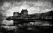 13th Century Framed Prints - Eilean Donan castle in Scotland BW Framed Print by RicardMN Photography
