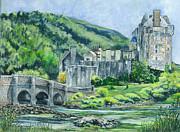 Eilean Donan Castle In Scotland II Print by Carol Wisniewski