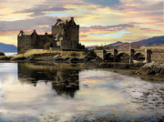 Highlands Of Scotland Posters - Eilean Donan Castle Scotland Poster by Jacqi Elmslie