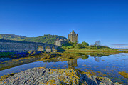 Scotland Prints Framed Prints - Eilean Donan Reflections Framed Print by Chris Thaxter