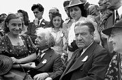 Whalen Photography Photos - Einstein At Worlds Fair by Underwood Archives