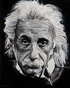 Albert Einstein Paintings - Einstein  by Brian Broadway