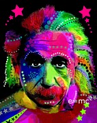 Icon  Mixed Media - Einstein by David Rogers