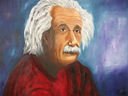 Popular People Paintings - Einstein by Doris Cohen