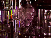 Prismatic Prints - Einstein in Crystal - Purple Print by Christi Kraft