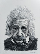 Einstein Drawings - Einstein by John Emery