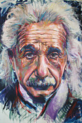 Mathematics Painting Prints - Einstein Print by Tachi Pintor