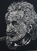 Einstein Drawings - Einstein by William Cauthern