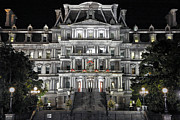 Eisenhower Framed Prints - Eisenhower Executive Office Building  Framed Print by Mitch Cat