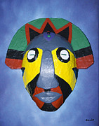 King James Mixed Media Posters - Eja Mask Poster by Charles Smith