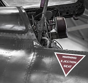 Selective Color Posters - Ejection Seat Warning Poster by Steven Milner
